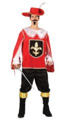 Musketeer Costume - Red (3162)